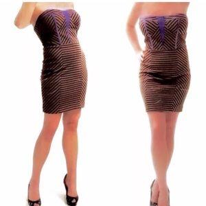 Anthropologie ark & co Strapless Stretch Dress M